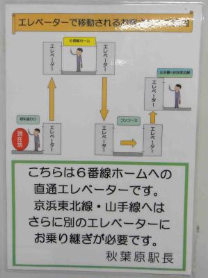 エレベーター移動経路案内